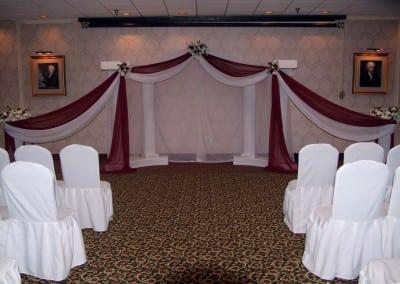 Fredericksburg VA wedding ceremony archway rental