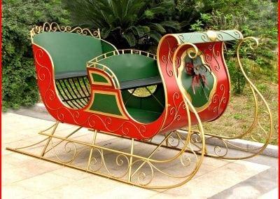 christmas-party-decoration-rental-virginia-sleigh