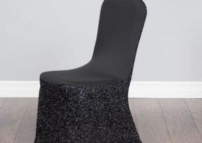 rental-linen-chaircovers-rental-dc-fredericksburg-va-Glitter Stretch Blk Cover