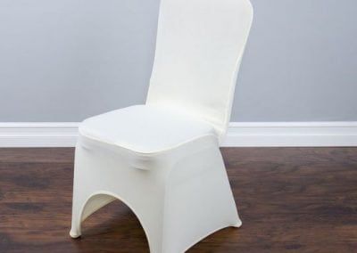 rental-linen-chaircovers-rental-dc-fredericksburg-va-Ivory Stretch Banquet Chair Cover