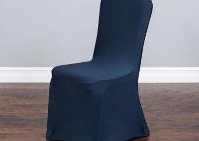 rental-linen-chaircovers-rental-dc-fredericksburg-va-Navy Stretch Chair Cover