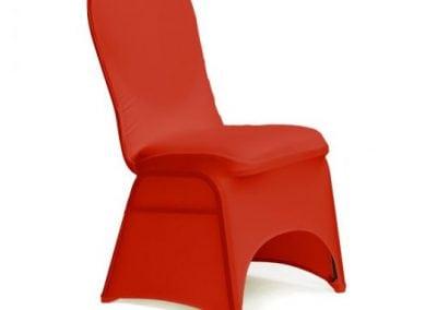 rental-linen-chaircovers-rental-dc-fredericksburg-va-Red Stretch Banquet Chair Cover