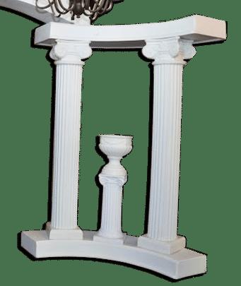 Decorations-Wedding Arch-Rentals-Column-72in-White