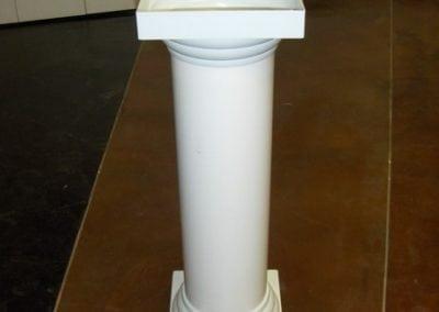 Decorations-Wedding Arch-Rentals--Column-White