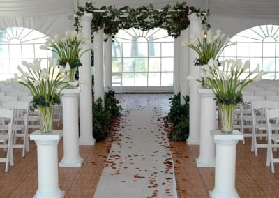 Fredericksburg VA wedding ceremony archway rental