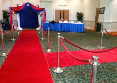 Red carpet rental in Washington, DC and Fredericksburg, VA