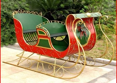 christmas-party-decoration-rental-virginia-sleigh