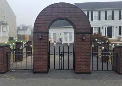 halloween-party-rental-virginia-fredericksburg-Brick Entrance
