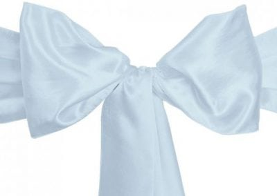 Baby Blue Satin Sash