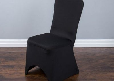 rental-linen-chaircovers-rental-dc-fredericksburg-va-Blk Stretch Banquet Chair Cover