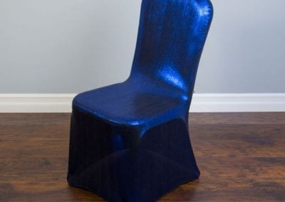 rental-linen-chaircovers-rental-dc-fredericksburg-va-Blue Shimmering-Stretch