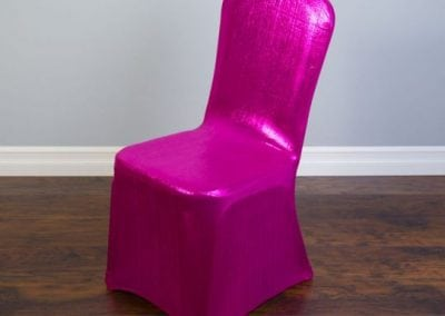 rental-linen-chaircovers-rental-dc-fredericksburg-va-Fuchsia Shimmering-Stretch