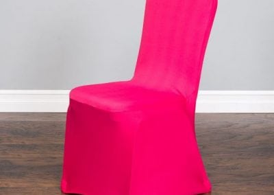 rental-linen-chaircovers-rental-dc-fredericksburg-va-Fushsia Stretch Chair Cover