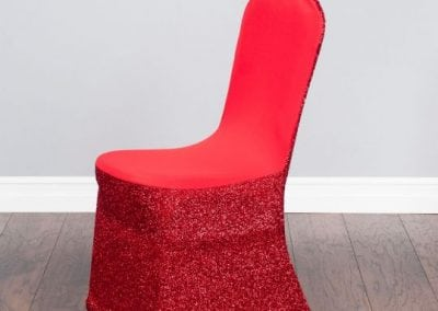 rental-linen-chaircovers-rental-dc-fredericksburg-va-Glitter Stretch Red Cover