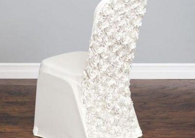 rental-linen-chaircovers-rental-dc-fredericksburg-va-Ivory Rosette Stretch