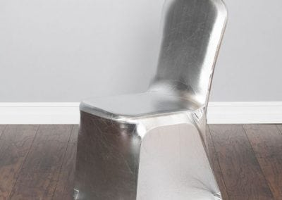 rental-linen-chaircovers-rental-dc-fredericksburg-va-Metallic Silver Stretch