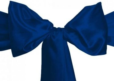 Navy Satin Sash