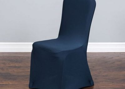 rental-linen-chaircovers-rental-dc-fredericksburg-va-Navy Stretch Chair Cover