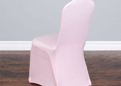 rental-linen-chaircovers-rental-dc-fredericksburg-va-Pink Stretch Chair Cover