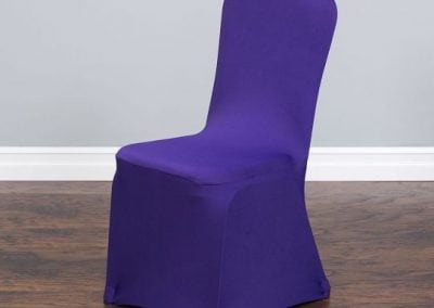 rental-linen-chaircovers-rental-dc-fredericksburg-va-Purple Stretch Chair Cover