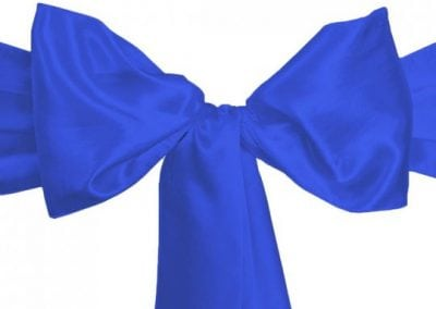Royal Blue Satin Sash