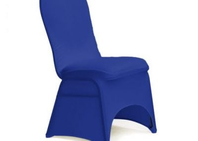rental-linen-chaircovers-rental-dc-fredericksburg-va-Royal Blue Stretch Chair Cover