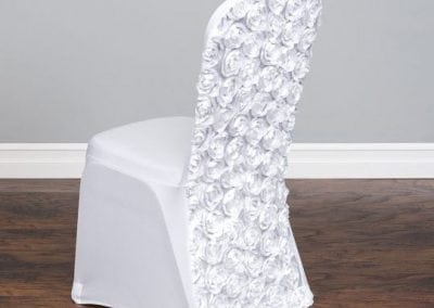 rental-linen-chaircovers-rental-dc-fredericksburg-va-Satin Rosette Stretch