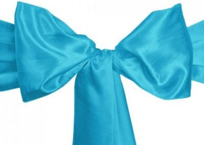 Tur Blue Satin Sash
