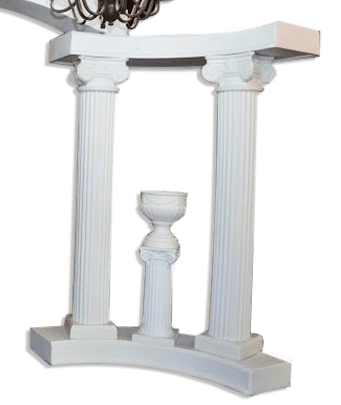 Decorations-Wedding Arch-Rentals-Column-72in-White