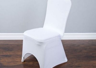 rental-linen-chaircovers-rental-dc-fredericksburg-va-Wht Stretch Banquet Chair Cover
