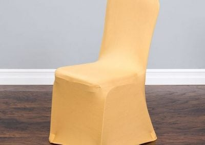 rental-linen-chaircovers-rental-dc-fredericksburg-va-Yellow Stretch Banquet Chair Cover
