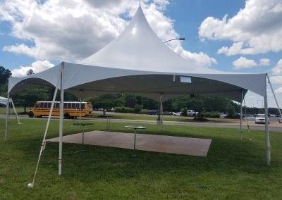 tent-rental-fredericksburg-Pole-tent-40x40-dancefloor