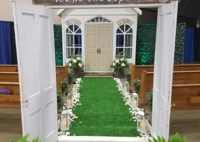 Church&Doorway-MM-Church-decoration-rental